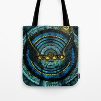halo Tote Bags featuring Halo by Joellart