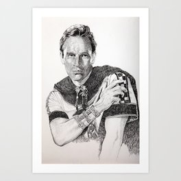 Charlton heston ben hur Art Print