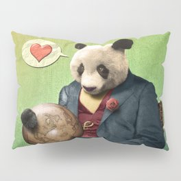 Wise Panda: Love Makes the World Go Around! Pillow Sham