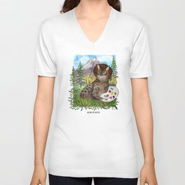 Bobcat Ross Unisex V-Neck