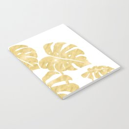 Delicate Monstera Golden #society6 Notebook