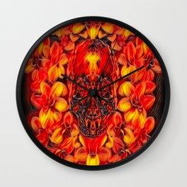 Voodoo Fire Skull Wall Clock
