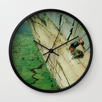 vertigo Wall Clocks featuring vertigo by Jesse Treece