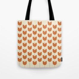 Red Tulip Pattern Tote Bag