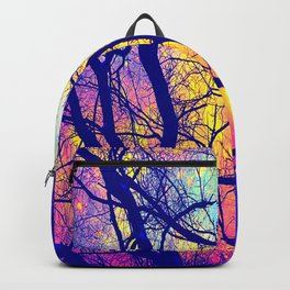 Black Trees Deep Bright & Colorful Space Backpack