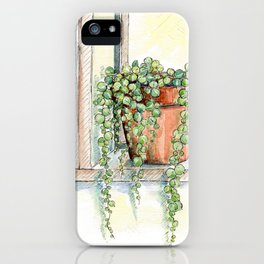 String of Pearls Plant, Still Life iPhone Case
