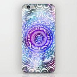 Modern Mandala Spiral Galaxy Space Textured Multi Colored / Purple Pink Orange Gray Black iPhone Skin