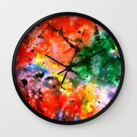 milky way Wall Clocks featuring Milky Way by Ink and Paint Studio
