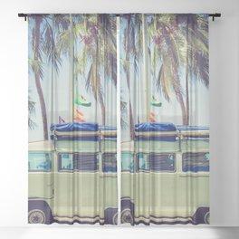 Beach Driving Sheer Curtain
