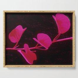Japanese Flower: Minimalist Art Serving Tray
