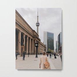 CN Tower Downtown Toronto Metal Print