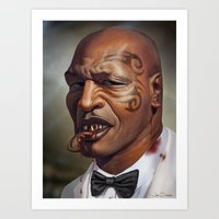 "mike tyson Art Prints featuring Mike Tyson ""Punched OUT"" by Joel Stieber"