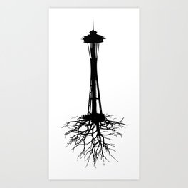 Seattle Roots Art Print