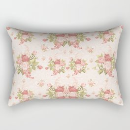 Romantic Vintage Roses and Hearts with Roses Rectangular Pillow