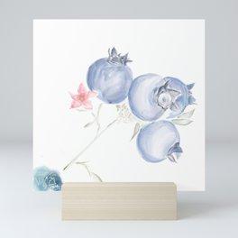 Red White & Blues ・Rustic Blueberries Mini Art Print