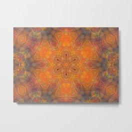 mandala 1 orange #mandala #orange Metal Print