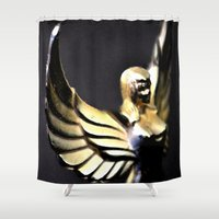 angel wings Shower Curtains featuring Angel Wings Series by Shaunia McKenzie