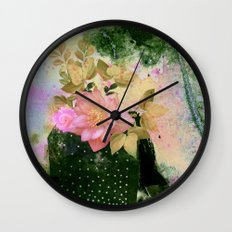 bouquet and vase Wall Clock
