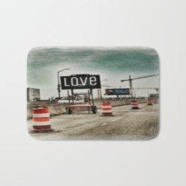 Road Construction Love  Bath Mat