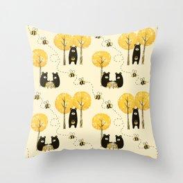 Bear Necessities Throw Pillow