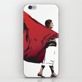 Woman with flag iPhone Skin
