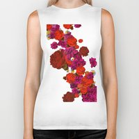 roses Biker Tanks featuring roses by Marcella Wylie