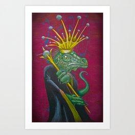 Lizard Royalty Art Print