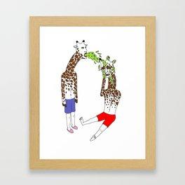 giraffe boyz Framed Art Print