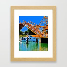 Sacramento Delta Draw Bridge Framed Art Print