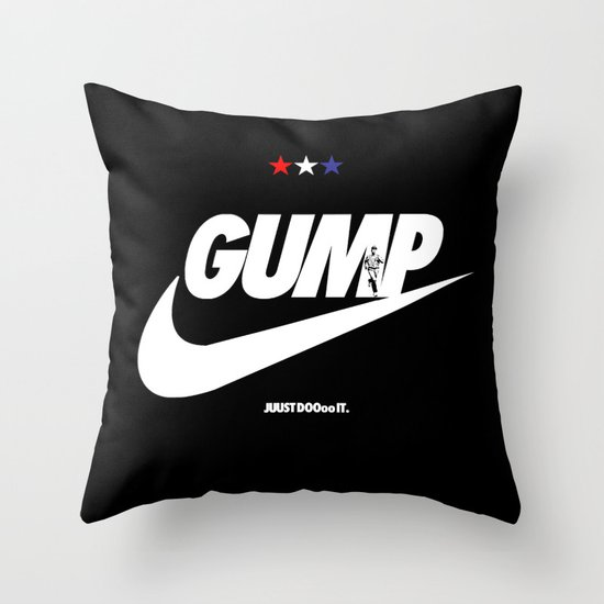 Gump- JustDoIt Throw Pillow