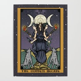 The Godddess Hecate In Tarot Card Poster