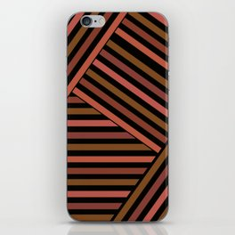 Striped pattern , patchwork 2 iPhone Skin