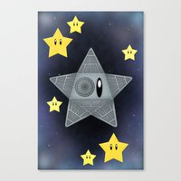 death star Canvas Prints featuring Death Star by Verreaux