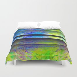 Yellow Color Blinds Duvet Cover