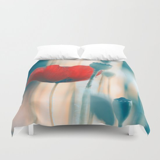 Poppies(radiance). Duvet Cover