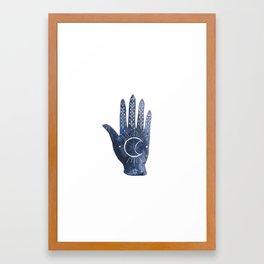 A Good Outlook Palmistry Illustration  Framed Art Print