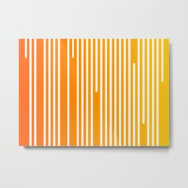 Abstract Geometric Summer With Lines Metal Print
