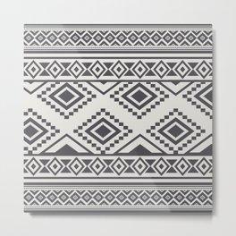 African Mud Cloth Print no.1 Metal Print