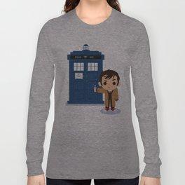 Cute 10 and Tardis Long Sleeve T-shirt