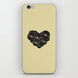 Heart of a Vinyl Lover iPhone Skin