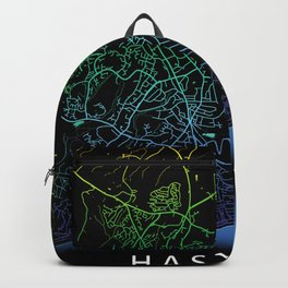 Hastings, England, Rainbow, City, Map Backpack