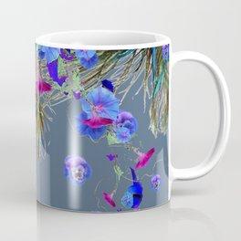 BLUE  NATURE FLORAL FANTASY DREAMS Coffee Mug