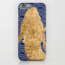 Golden Mermaid iPhone Case
