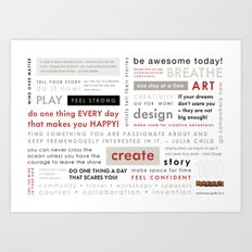 100 Wednesday Manifesto Art Print