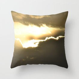 head in the clouds - tina stenford 9 Throw Pillow