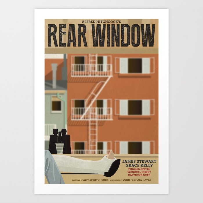 Rear Window tribute poster Kunstdrucke