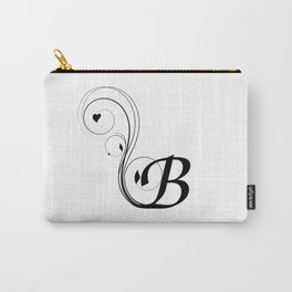black and white B letter with design Carry-All Pouch