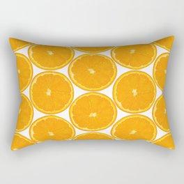 Orange Fruit Pattern Rectangular Pillow