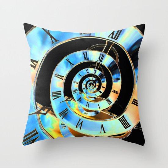 Infinite Time Blue Throw Pillow