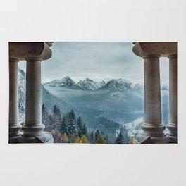 The view - Neuschwanstin casle Rug